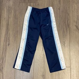 Nike Toddler Navy Blue Tear-Away Tack Pants